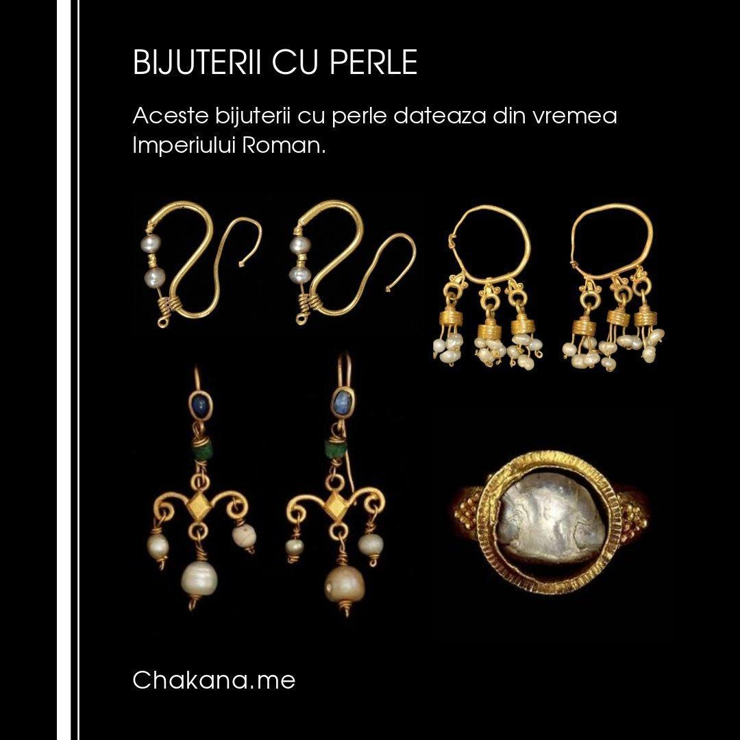 Bijuterii cu perle din Roma Antica