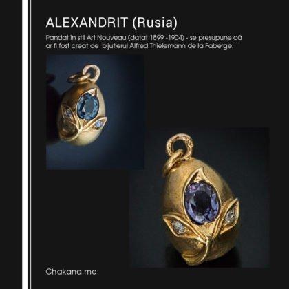 Pandant Faberge cu Alexandrit